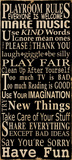 Playroom Rules Art