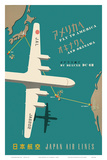 Japan Airlines: Fly to America Posters