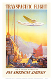 Pan American: Transpacific Flight, c.1940s Prints by Paul George Lawler