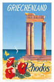 Rhodos: Griechenland, Greece c.1954 Art by C. Neuria