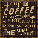 Coffee Quote I Print by Pela Studio