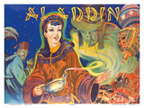 Aladdin: London Pantomime Theatre Poster, c.1930s Posters