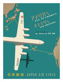 Japan Airlines: Fly to America Wydruk giclee