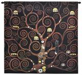 Stocklet Frieze Schwarz Wall Tapestry by Gustav Klimt