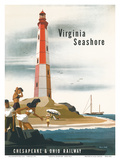 Chesapeake & Ohio Railroad: Virginia Seashore, c.1950s Posters by Bern Hill