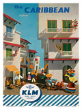 KLM Royal Dutch Airlines: The Caribbean, c.1960s Poster by J.F. Van Der Leeuw