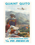 Pan American: Quaint Quito - In the Ecuadorian Andes, c.1938 Giclee Print by Paul George Lawler