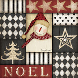 Noel Snowman Prints by Jennifer Pugh