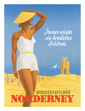 Nordseeneilbad Norderney Resort: Always a Wonderful Experience, c.1949 Gicléedruk van Willy Hanke