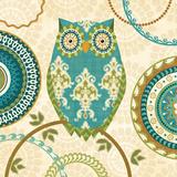 Veronique Charron - Owl Forest II Obrazy