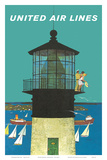 United Air Lines: Lighthouse, c.1960s Posters by Stan Galli