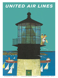 United Air Lines: Lighthouse, c.1960s Prints by Stan Galli