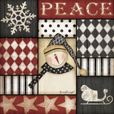 Peace Snowman Prints by Jennifer Pugh