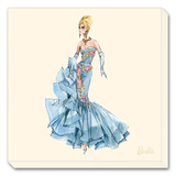 Barbie, Blue Dres Stretched Canvas Print by Robert Best