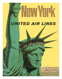 United Air Lines: New York, c.1950s Giclee Print by Stan Galli