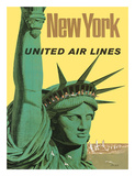 United Air Lines: New York, c.1950s Giclée-tryk af Stan Galli