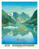 HAPAG Cruise Line: Nordkapfahrt - North Cape and Norwegian Fjords, c.1957 Giclee Print