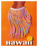 Pan American: Hawaii - Hula Skirt Giclée-tryk