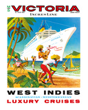 Victoria Incres Line: West Indies - Luxury Cruises, c.1971 Giclee Print