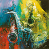Jazz Time Poster by Antonio Massa