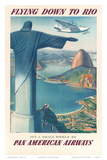Pan American: Flying Down to Rio, c.1930s Affiches par Paul George Lawler