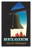 Belgien: Land der Glockenspiele - Land of Glockenspiel c.1950 Print