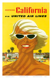 Fly United Air Lines: Southern California, c.1955 Print by Stan Galli