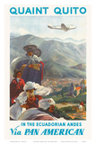 Pan American: Quaint Quito - In the Ecuadorian Andes, c.1938 Poster by Paul George Lawler