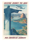 Pan American: Flying Down to Rio, c.1930s Reproduction procédé giclée par Paul George Lawler