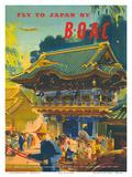 British Overseas Airways Corporation: Fly to Japan by BOAC, c.1950s Kunstdrucke von Frank Wootton