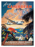 Pan American: Fly to the Caribbean by Clipper, c.1940s Art by M. Von Arenburg