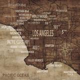 Mapa de Los Angeles Póster por Luke Wilson