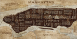 Manhattan Neighborhoods Posters by Luke Wilson
