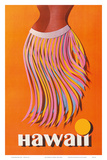 Pan American: Hawaii - Hula Skirt Plakater