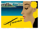 Ocean Liner to Hawaii - Luggage Decal, c.1940s Affiches par Frank MacIntosh