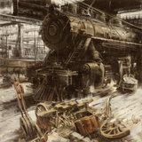 Deposito Locomotive Prints by Antonio Massa