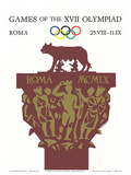Games of the XVII Olympiad, Roma, c.1960 Plakater af Armando Testa