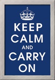 Keep Calm (navy) Print
