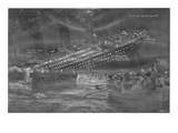 Illustration - Titanic Sinking. Photographic Print