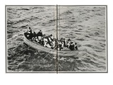 How the Titanic Survivors Were Picked Up by the Carpathia. Reprodukcja zdjęcia