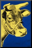 Cow, c.1971 (Blue and Yellow) Mounted Print by Andy Warhol