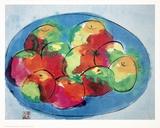 Nature morte - Pommes Affiches par Walasse Ting