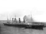 The 'New York' Being Pushed Away from the Titanic by Tugs. Photographic Print