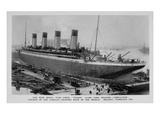 A Postcard of Titanic in Dock. Photographic Print