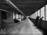 RMS Olympic. 'A' Deck. Transatlantic Passengers Enjoying the Bracing Air. Photographic Print