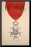 La Cicatrice, Front Cover of &#39;Le Mot&#39;, Saturday 30th January 1915 Mounted Print by Iribe 