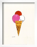 Ice Cream Dessert, c.1959 (Red, Pink and White) Posters by Andy Warhol