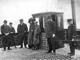 Passengers on Board 'Ireland', a White Star Tender (Ferry). Photographic Print