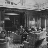 Mauretania', Smoking Room. Photographic Print