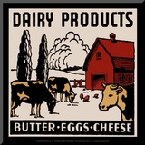 Dairy Products-Butter, Eggs, Cheese Mounted Print